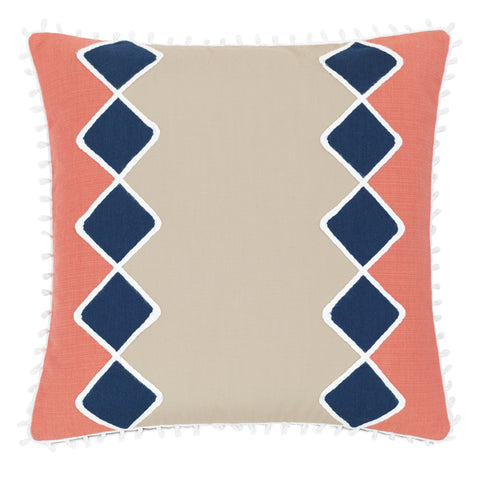 "Blue Diamonds Decorative Outdoor Pillow Cover 20""x20"""