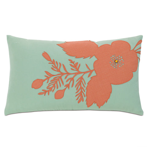 "Jardin Peony Decorative Outdoor Pillow Cover 13""x22"""