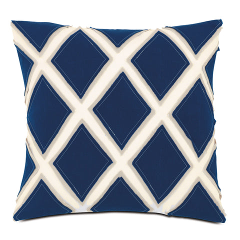 "Criss-Cross Decorative Outdoor Pillow Cover 18""x18"""