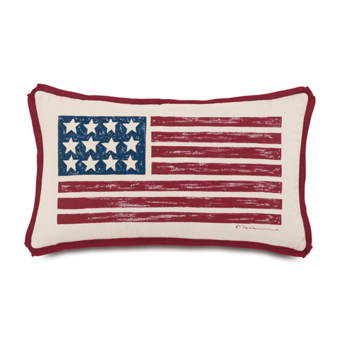 "Patriotic Decorative Outdoor Pillow Cover 13""x22"""