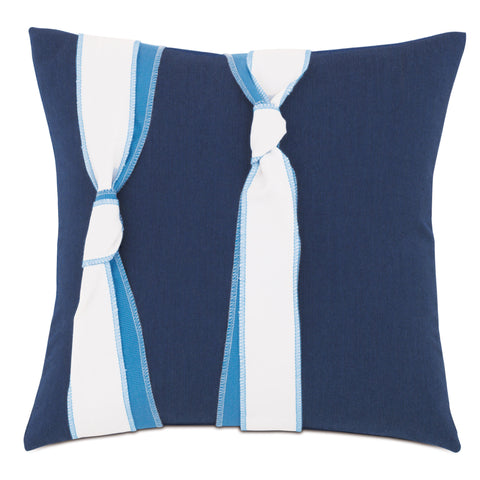 "Lake House Knots Decorative Outdoor Pillow Cover 18""x18"""