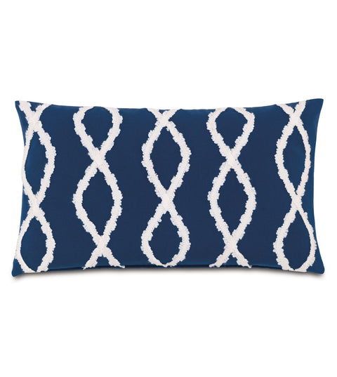 "Geometric Trim Outdoor Luxury Pillow Cover 13"" x 22"""