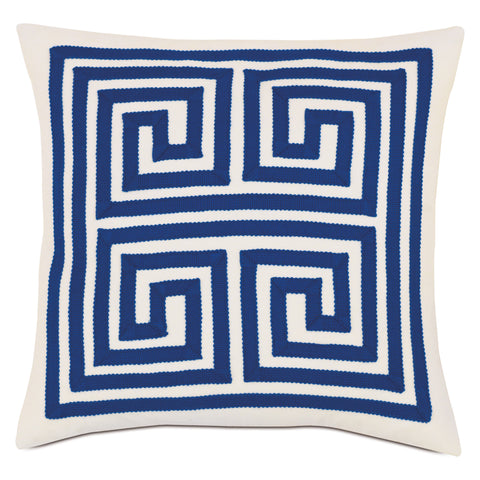 "Meandros Decorative Outdoor Pillow Cover in Navy 18""x18"""