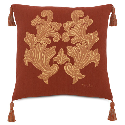 "Shalimar Zari Decorative Outdoor Pillow Cover 20""x20"""