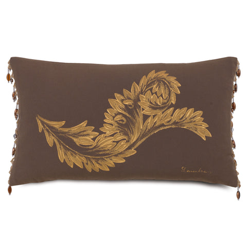 "Shalimar Garden Decorative Outdoor Pillow Cover 13""x22"""