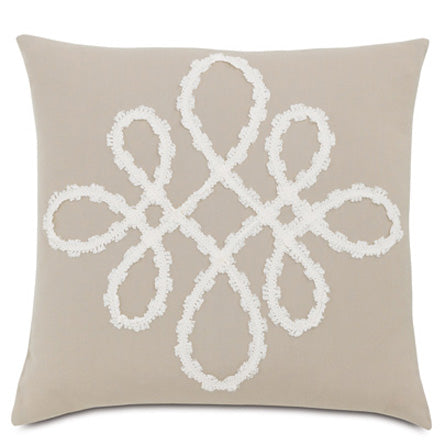 "Ribbon Scroll Decorative Outdoor Pillow Cover 20"" x 20"""