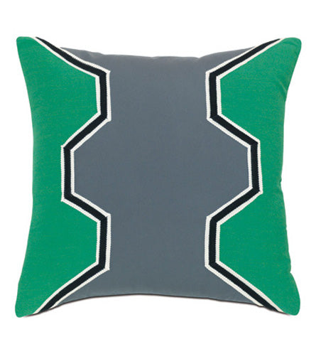 "Geometric Patio Pillow in Jade Pillow Cover 20"" x 20"""