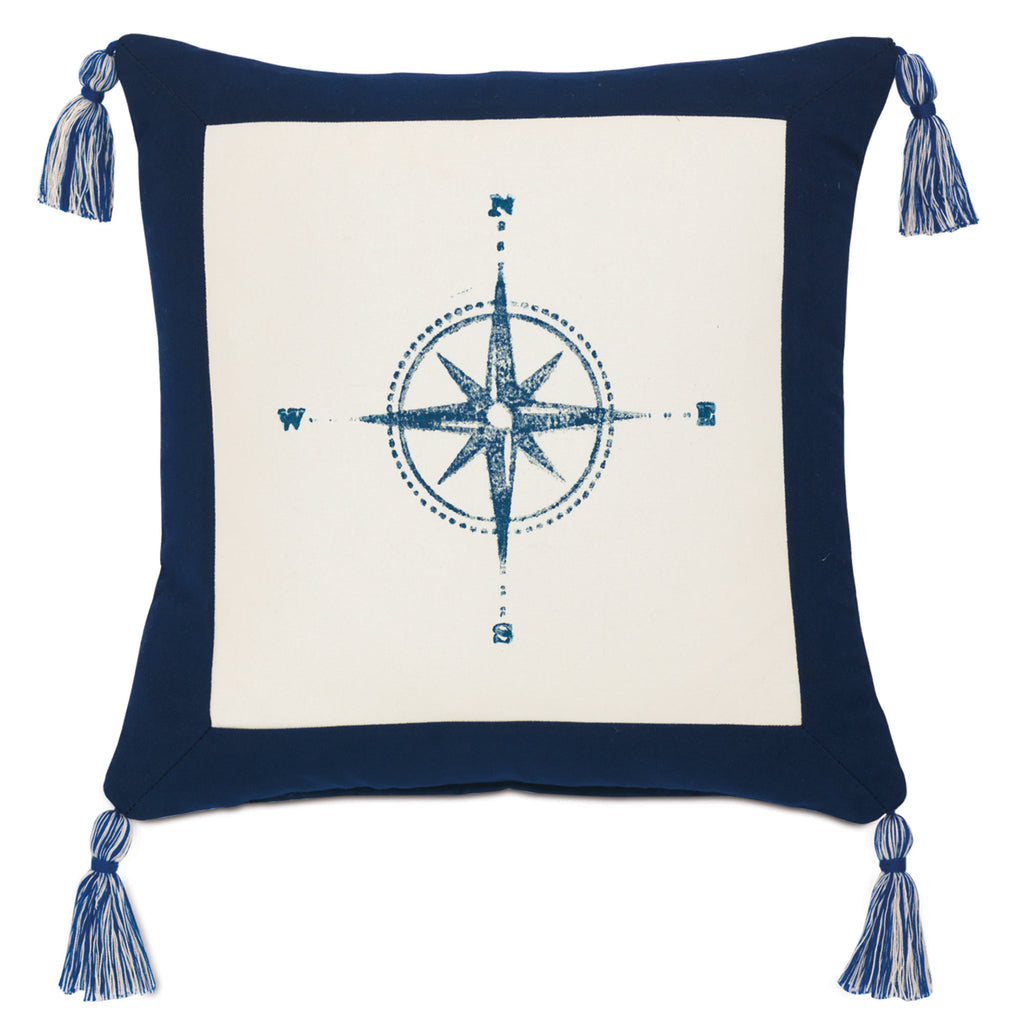 "Boating Compass Decorative Outdoor Pillow Cover 18"" x 18"""
