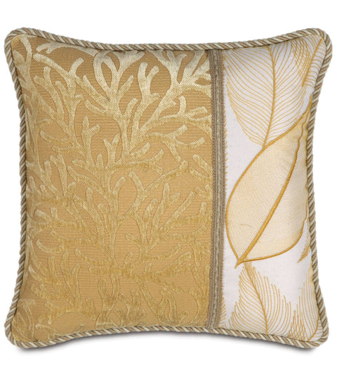 "Augustus Gold Coast Paradise Decorative Pillow Cover 18"" x 18"""