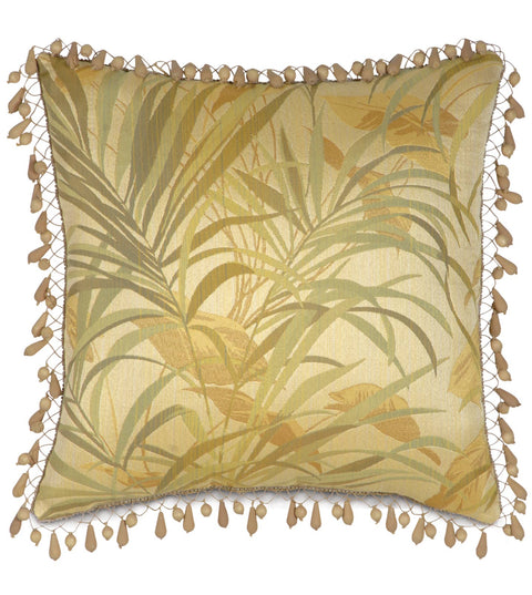 "Augustus Gold Coast Paradise Decorative Throw Pillow Cover 22"" x 22"""