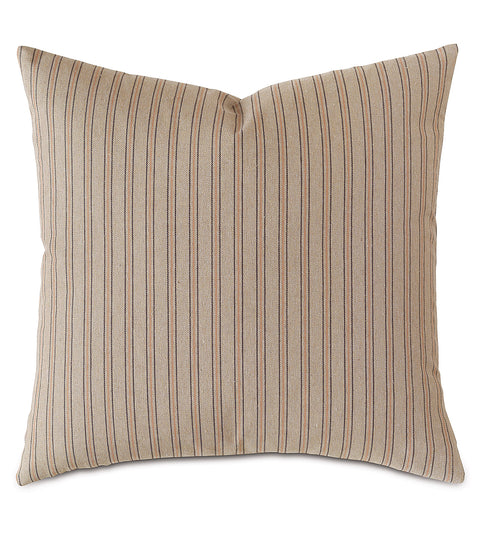 "Taupe French Laundry Stripe Pillow Cover 20"" x 20"""