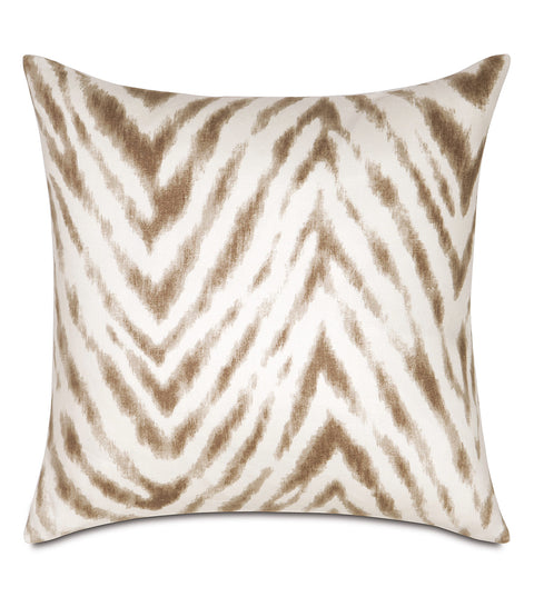"16"" x 16"" Brown Zebra Striped Decorative Pillow Cover"