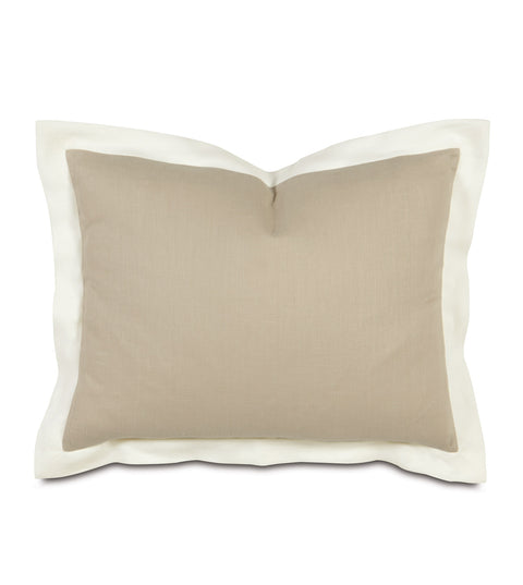 "Beverly Linen Standard Sham in Tan 20"" x 27"""