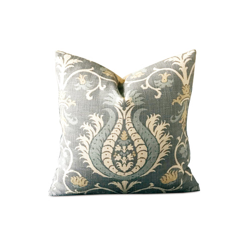 "Bohemian Chic Botanical Pillow Cover 16"" x 16"""