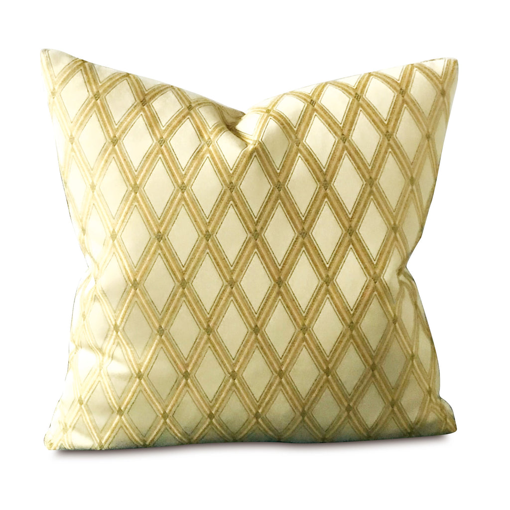 "Woven Geometric Diamonds Decorative Pillow Cover 18"" x 18"""