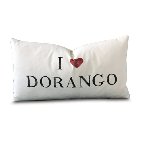 "15"" x 26"" I Love Dorango Decorative Pillow Cover"