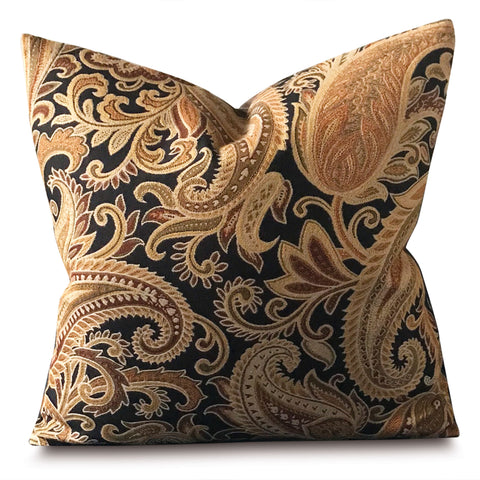 "20"" x 20"" Antique Paisley Floral Decorative Pillow Cover"