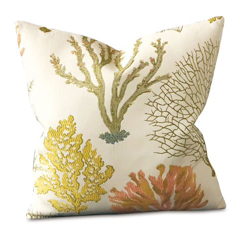 "Coral Reef Sea life Decorative Pillow Cover 16"" x 16"""