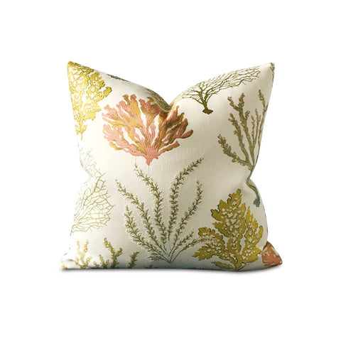 "20"" x 20"" Coral Sea life Decorative Pillow Cover"