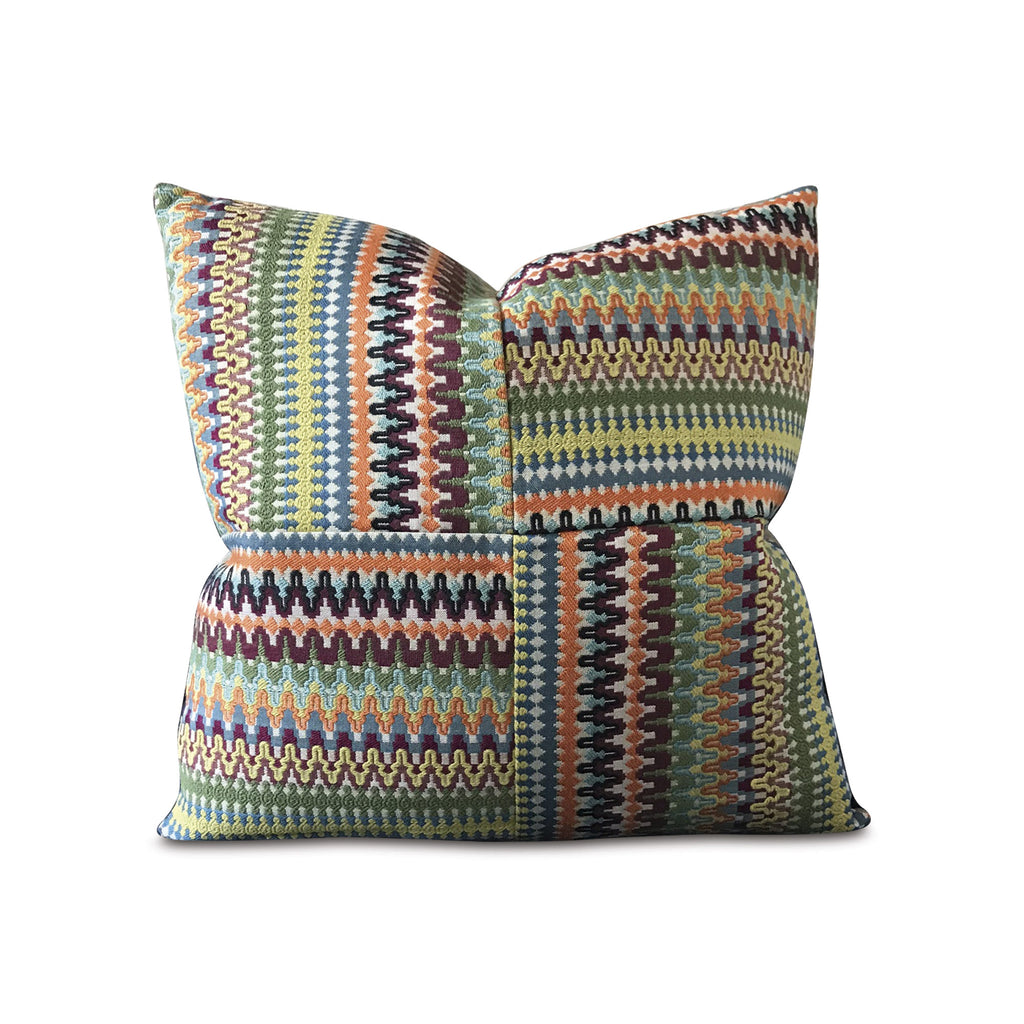 "Multicolored Bohemian Decorative Pillow Cover 20"" x 20"""