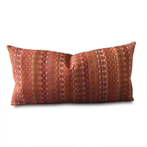 "Vintage Sunset Mid Century Woven Decorative Pillow Cover 13"" x 22"""