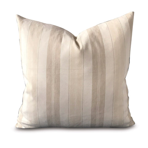 "American Country Tan Lined Decorative Pillow Cover 20"" x 20"""