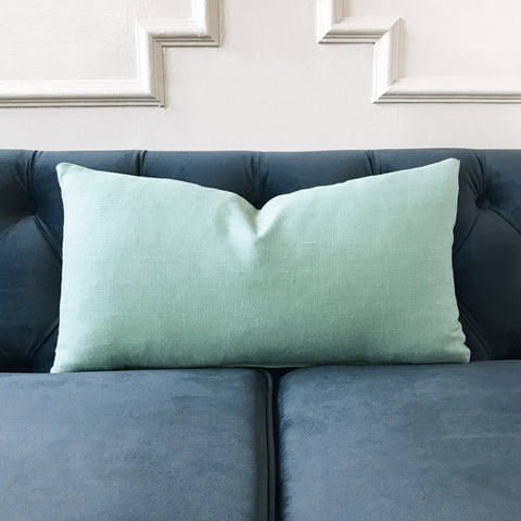 "Turquoise Southwestern Lumbar Pillow Cover 11"" x 21"""