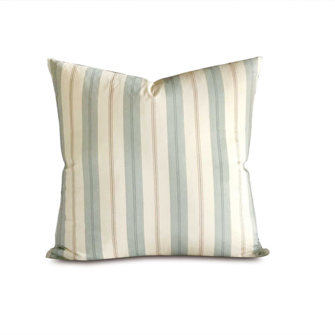 "Blue French Laundry Stripe Euro Sham Cover 27"" x 27"""