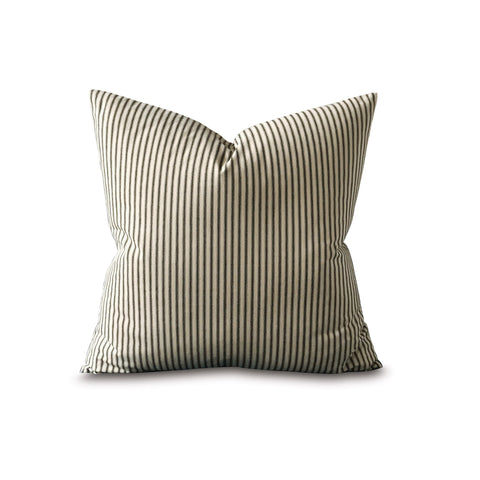 "22"" x 22"" Clean Line Pinstripe Decorative Pillow Cover"