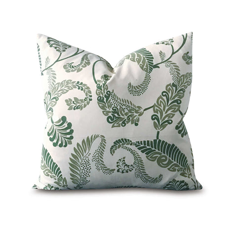 "Botanical Garden Decorative Pillow Cover in Green 20"" x 20"""