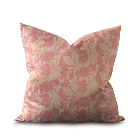 "English Country Flora Decorative Pillow Cover 22"" x 22"""