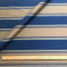 Blue and Gold Wide Traditional Stripe Upholstery Fabric