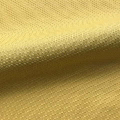 Solid Canary Yellow Oval Textured Fabric