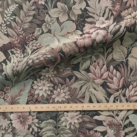 Mauve Contemporary Floral Jacquard Upholstry Fabric 54""