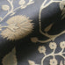 Black and Gold Traditional Botanical Embroidered Woven Upholstery Fabric 54""