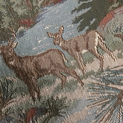Country Deer Cotton Upholstery Fabric 54""