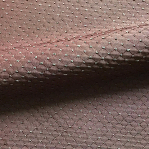 Brown and Burgundy Textured Brocade Upholstery Fabric 54""