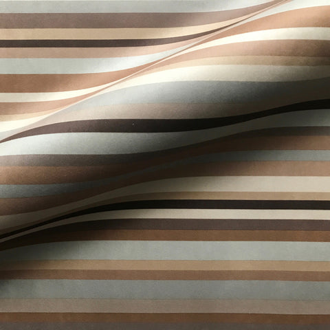 Tan Contemporary Stripe Cotton Upholstery Fabric 54""