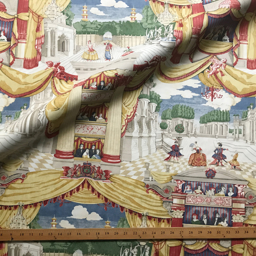 Multicolored Theater Opera Novelty Printed Cotton Fabric 54""