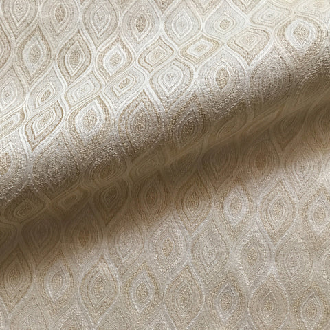 Beige Southwestern Ogee Jacquard Upholstery Fabric 54""