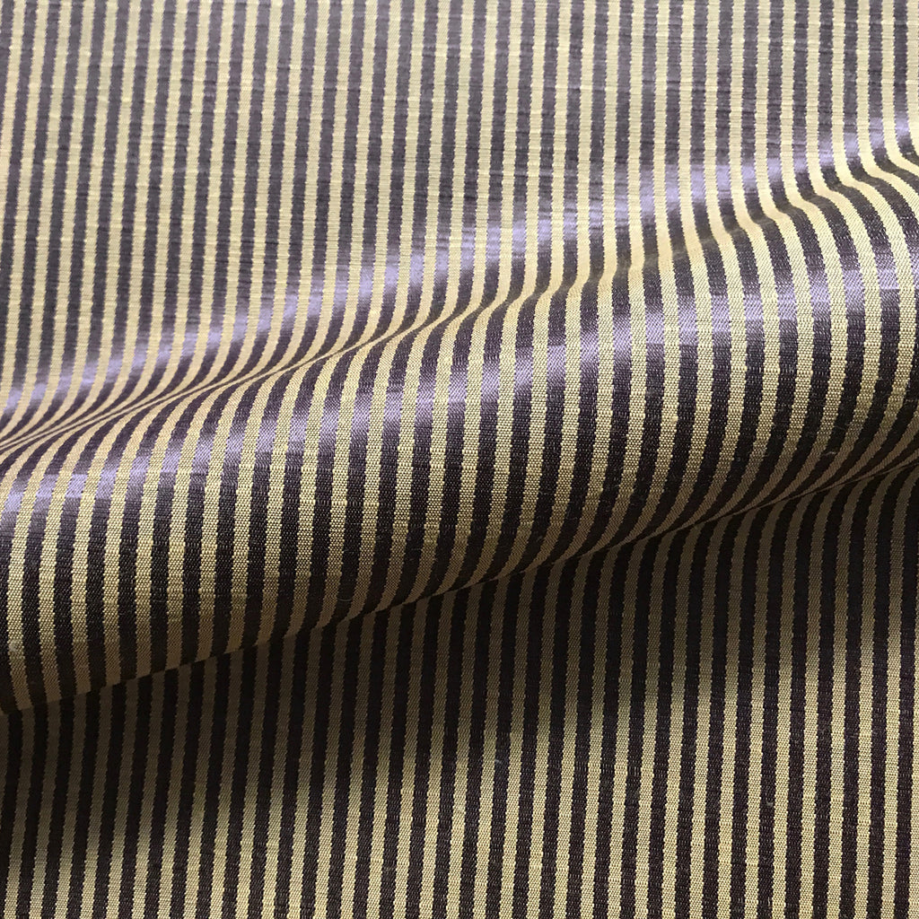 Brown Contemporary Pinstripe Linen Fabric 54""