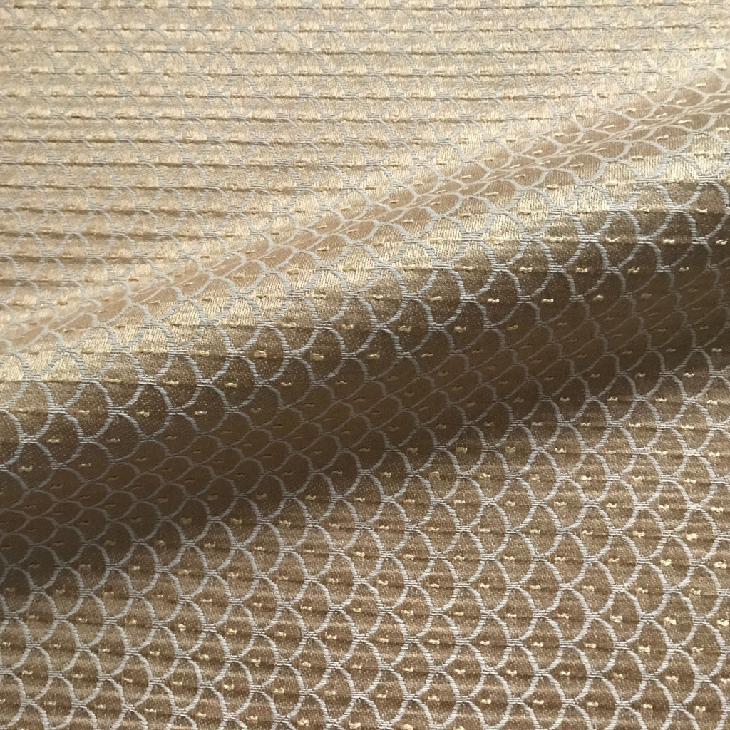 Metallic Taupe Embroidered Upholstery Fabric 54""