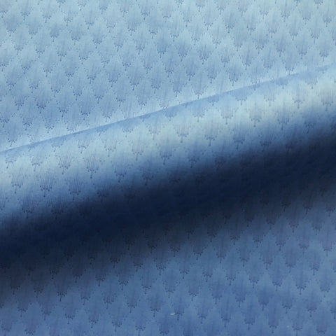 Blue Contemporary Geometric Cotton Fabric 43""