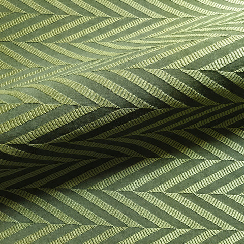 Emerald Green Modern Chevron Woven Brocade Upholstery Fabric 54""
