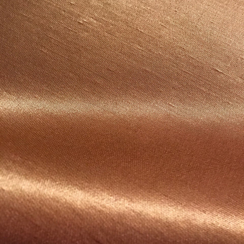 Copper Solid Faux Silk Upholstery Fabric 42""