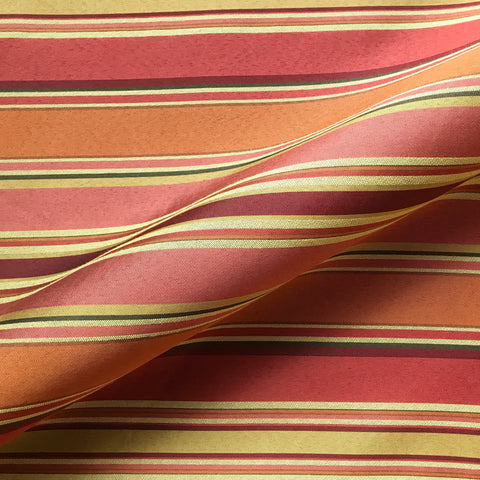 Red Contemporary Stripe Woven Upholstery Fabric 54""