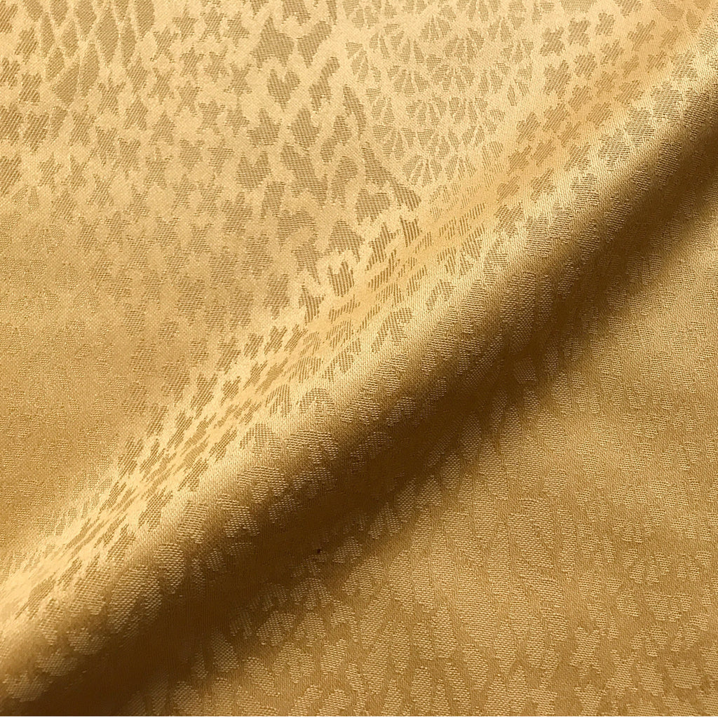 Gold Abstract Jacquard Upholstery Fabric 54""