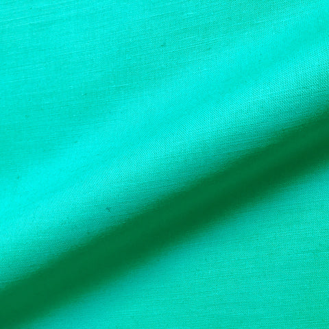 Bright Teal Textured Solid Linen Upholstery Fabric 54""