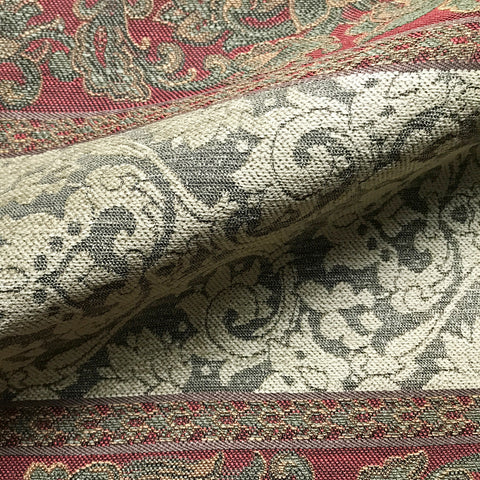Multicolored Traditional Damask Jacquard Upholstery Fabric 54""