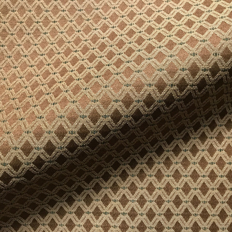 Brown Traditional Trellis Jacquard Upholstery Fabric 54""